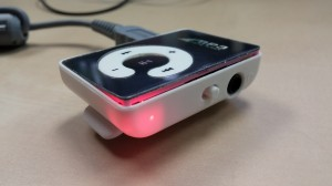 MP3 player with front face slightly separated