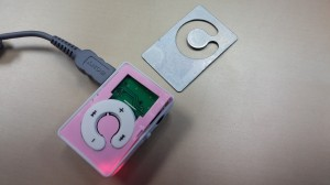 MP3 player with mirror face detached