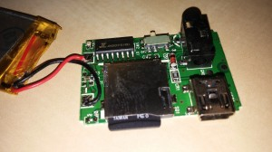 Detail of MP3 player PCB